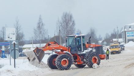 Прошла большая уборка центральных улиц от снега